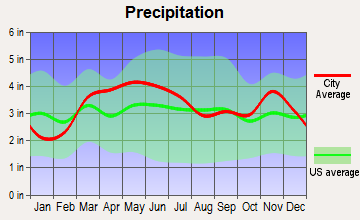 Okawville, Illinois average precipitation