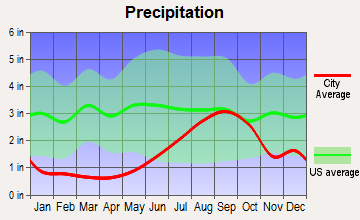 Houston, Alaska average precipitation