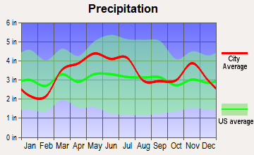 Stewardson, Illinois average precipitation