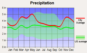Thebes, Illinois average precipitation