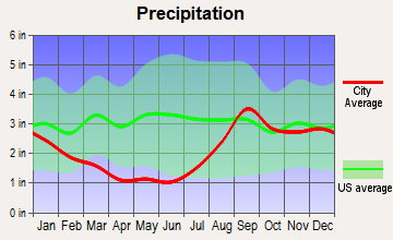 Kachemak, Alaska average precipitation