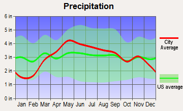 Bay View Gardens, Illinois average precipitation
