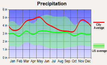 Belknap, Illinois average precipitation