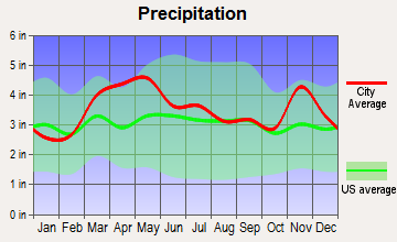 Belle Rive, Illinois average precipitation