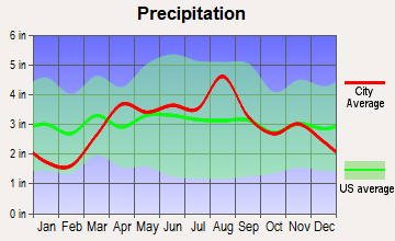 Bensenville, Illinois average precipitation
