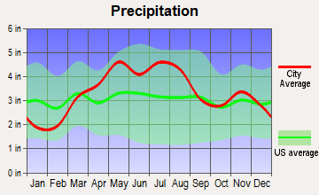 Bondville, Illinois average precipitation