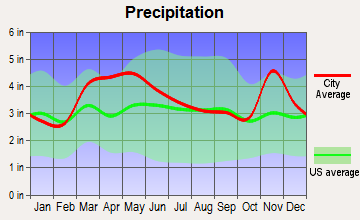 Bonnie, Illinois average precipitation