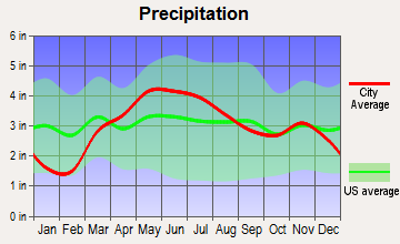 Buckingham, Illinois average precipitation