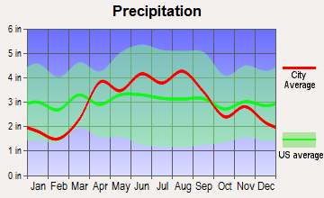 Channel Lake, Illinois average precipitation