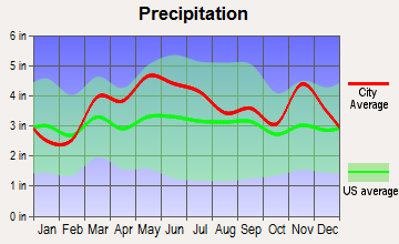 Chester, Illinois average precipitation