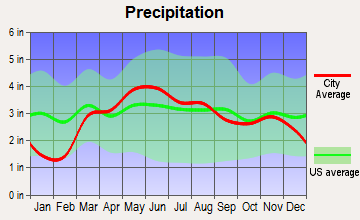 Colfax, Illinois average precipitation