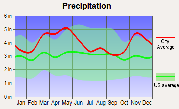 Dongola, Illinois average precipitation