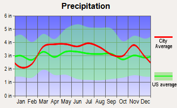 Dupo, Illinois average precipitation