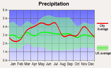 Effingham, Illinois average precipitation