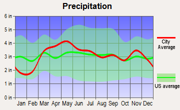 Eldred, Illinois average precipitation