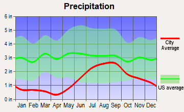 Meadow Lakes, Alaska average precipitation