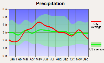 Girard, Illinois average precipitation