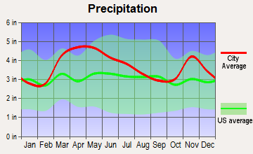 Grayville, Illinois average precipitation