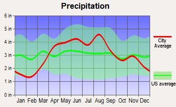 Inverness, Illinois average precipitation