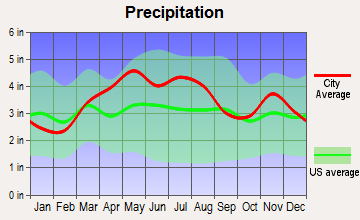 Brooklyn, Indiana average precipitation
