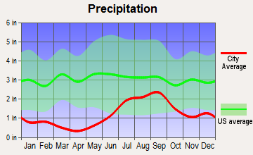 Palmer, Alaska average precipitation