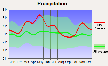 Mount Vernon, Indiana average precipitation