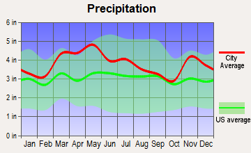 Newburgh, Indiana average precipitation
