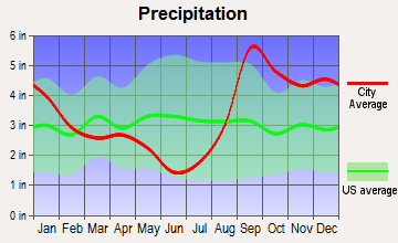 Port Graham, Alaska average precipitation