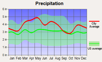 Salem, Indiana average precipitation