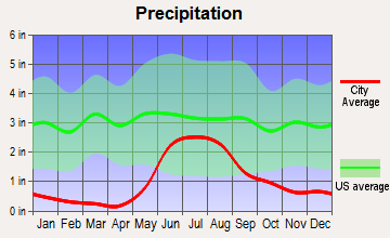 Salcha, Alaska average precipitation