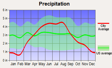 Palmer, Iowa average precipitation