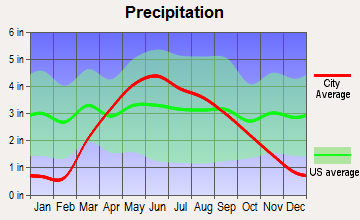 Ricketts, Iowa average precipitation