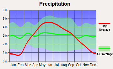 Auburn, Iowa average precipitation