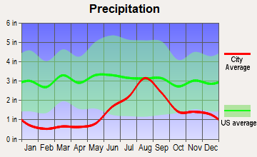 Tuntutuliak, Alaska average precipitation