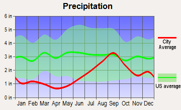 Anchorage, Alaska average precipitation