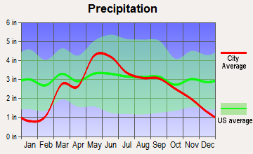 Goddard, Kansas average precipitation