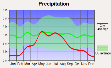 Dighton, Kansas average precipitation