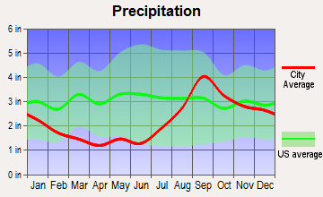 Diamond Ridge, Alaska average precipitation