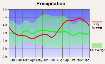 False Pass, Alaska average precipitation