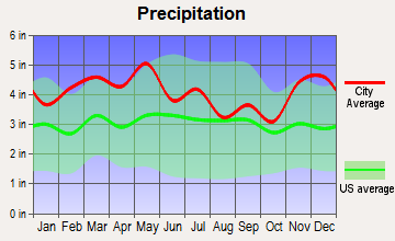 Centertown, Kentucky average precipitation