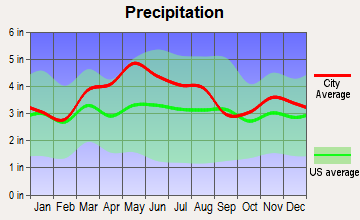 Fort Thomas, Kentucky average precipitation