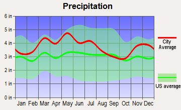 Hollow Creek, Kentucky average precipitation