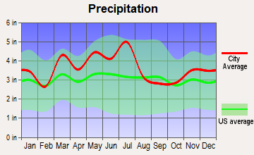 Morehead, Kentucky average precipitation