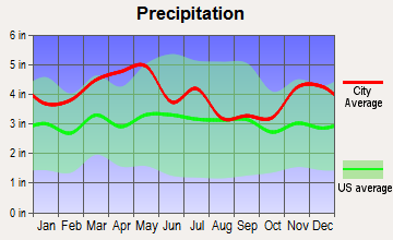 Mortons Gap, Kentucky average precipitation
