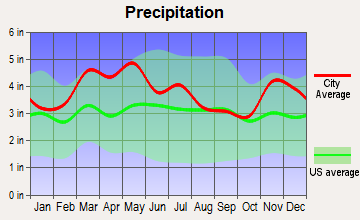 Owensboro, Kentucky average precipitation