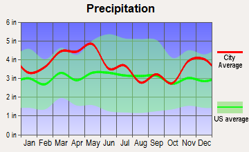 Sacramento, Kentucky average precipitation