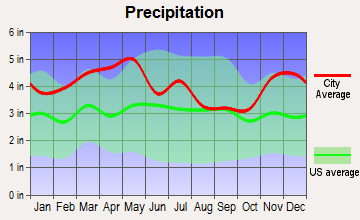 St. Charles, Kentucky average precipitation