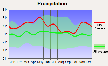 Whitesville, Kentucky average precipitation