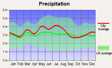 Wurtland, Kentucky average precipitation