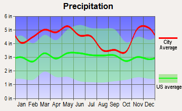 Shiloh, Kentucky average precipitation